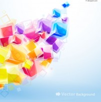 Colorful ice boxback ground vector material