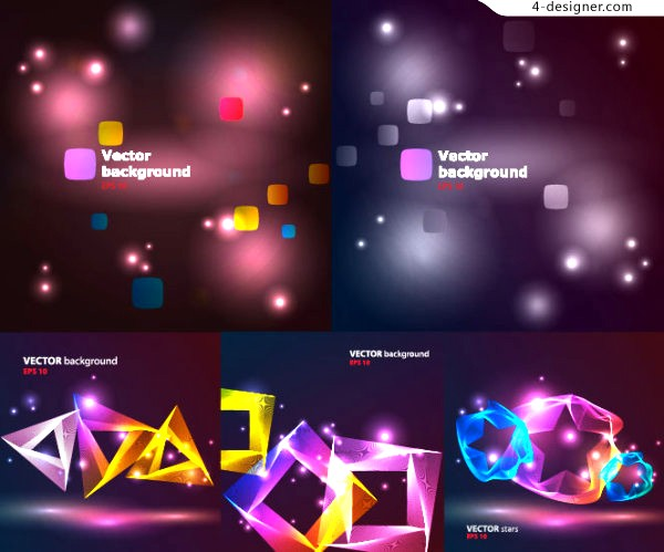 Colorful light graphics background vector material