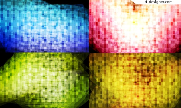 Colorful mosaic background vector material