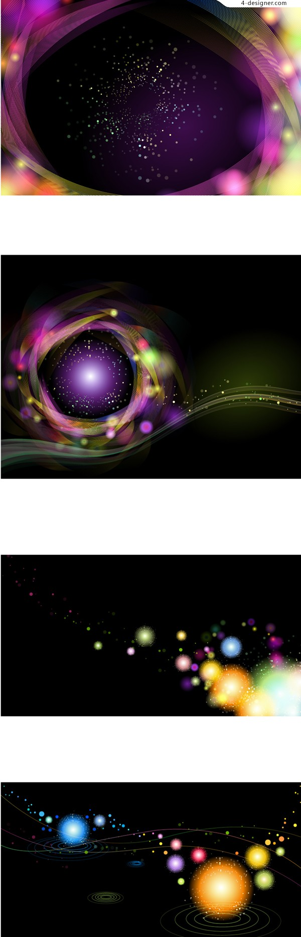 Colorful starry background vector material