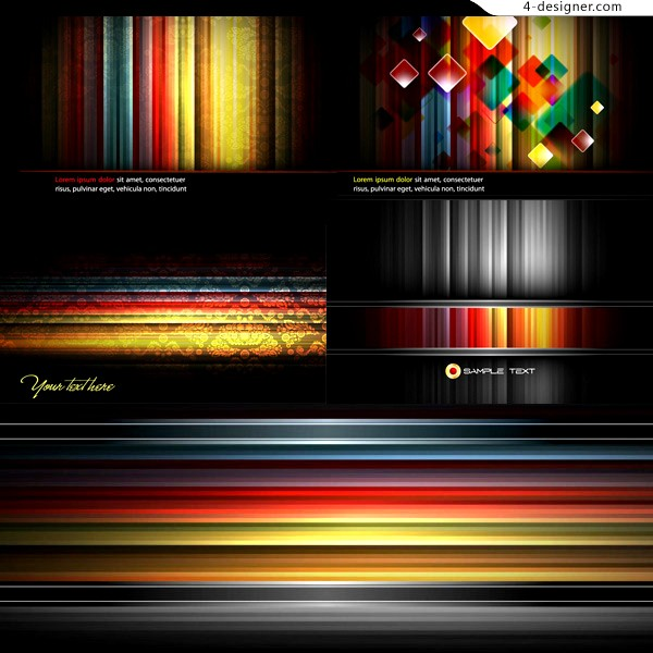 Colorful stripes background vector material