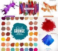 Colorful watercolor background vector material