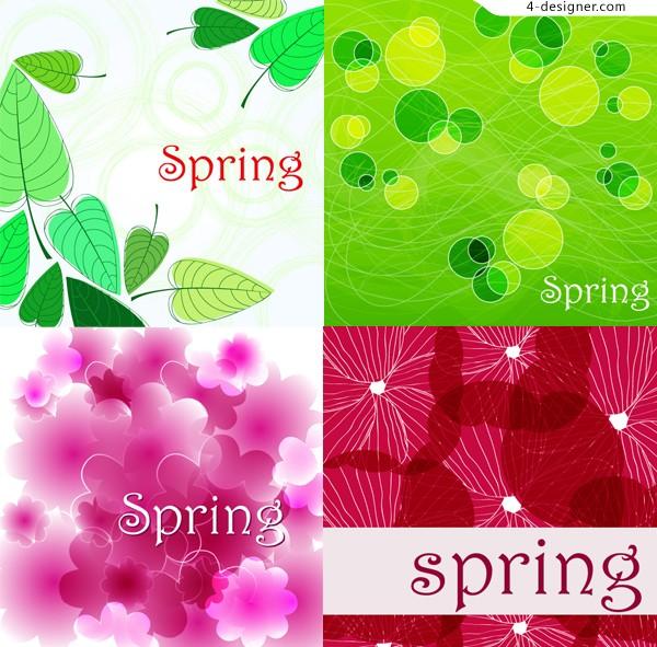 Colourful Spring theme background vector material