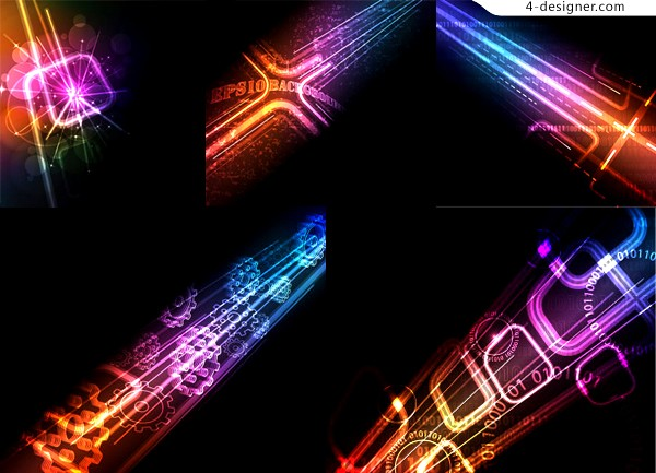 Cool technology glare background vector material