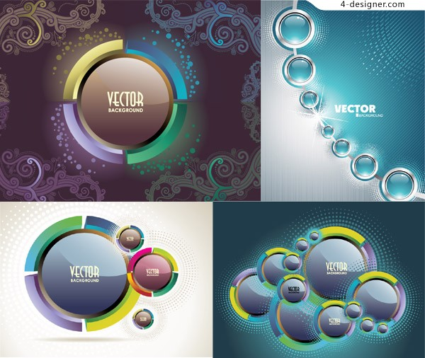 Crystal button background vector material