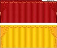 Curtain background vector material