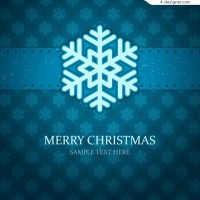 Delicate snowflake background vector material