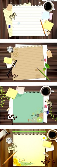 Desktop office theme background vector material