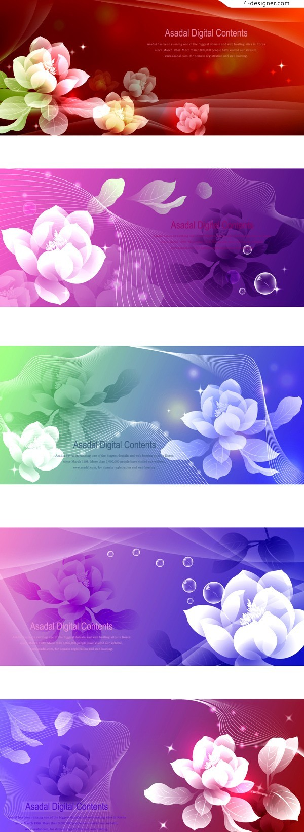 Dreamlike flower background vector material