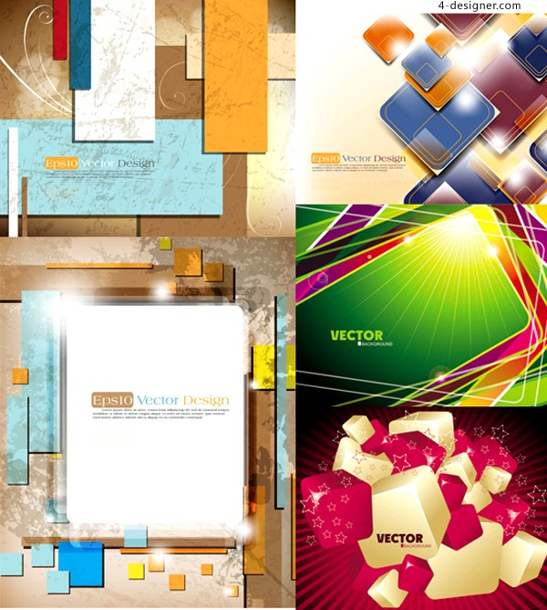 Dynamic 3D graphics background vector material