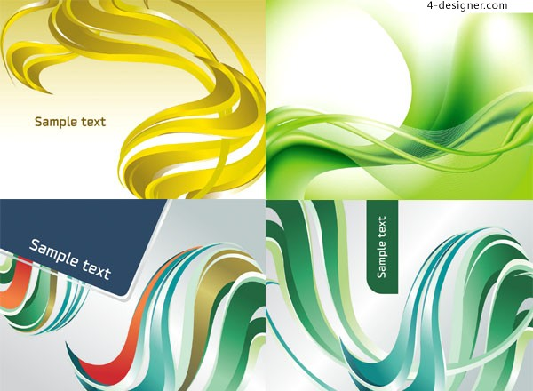 Dynamic color flow line background vector material
