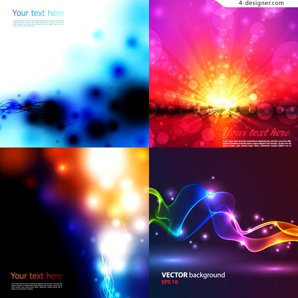Dynamic flare background vector material