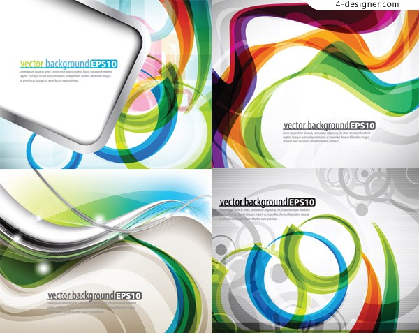 Dynamic flow line background vector material