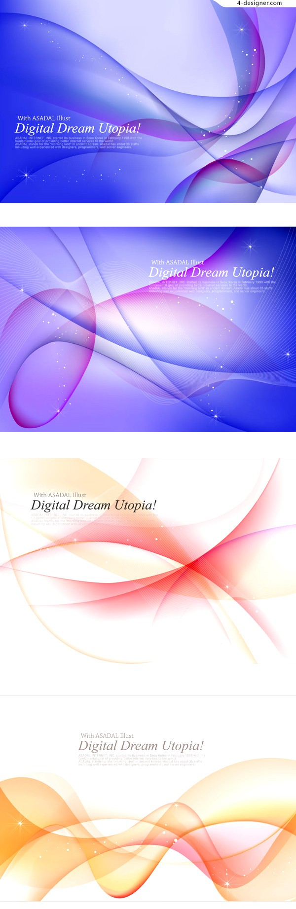 Dynamic misty smoke background vector material
