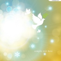 Fantasy halo and dove of peace background vector material