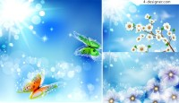 Fantasy sunny background vector material