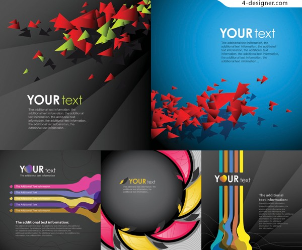 Fashion graphic background vector material