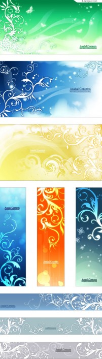 Fashionable and fantasy figure banner background vector material