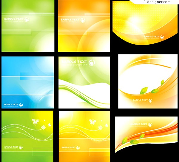 Fresh fantasy card background vector material