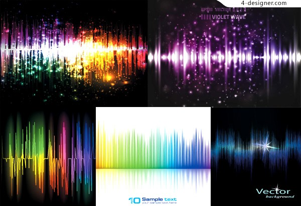 Glare audio background vector material