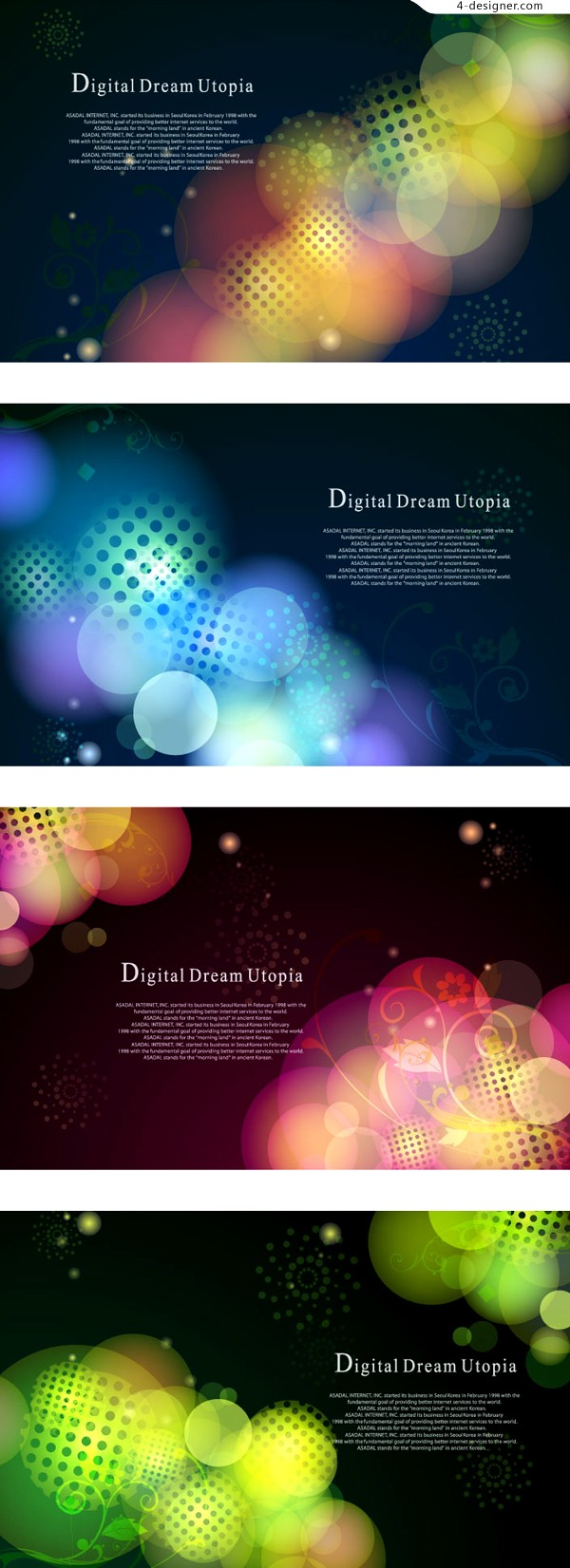 Gorgeous halo background vector material