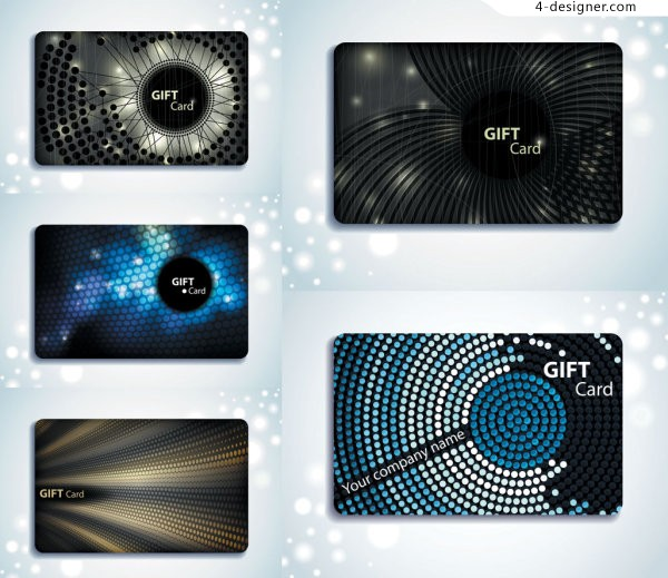 Gorgeous textured gift card background vector material