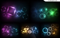Graphic light effect background vector material