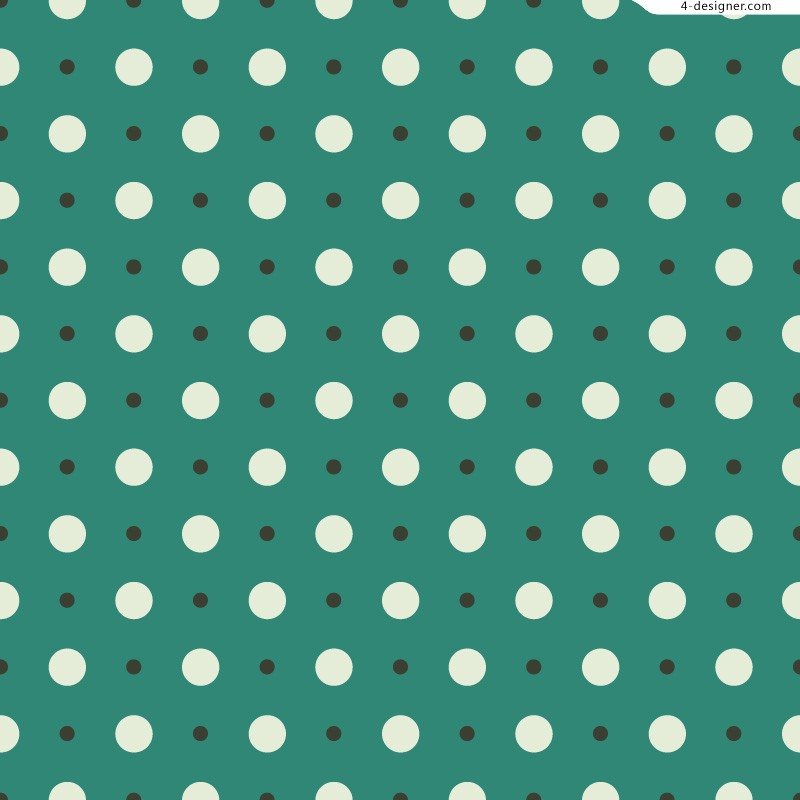 Green background white spots background vector material