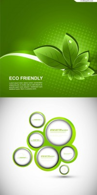 Green nature theme background material