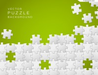 Green puzzle background vector material