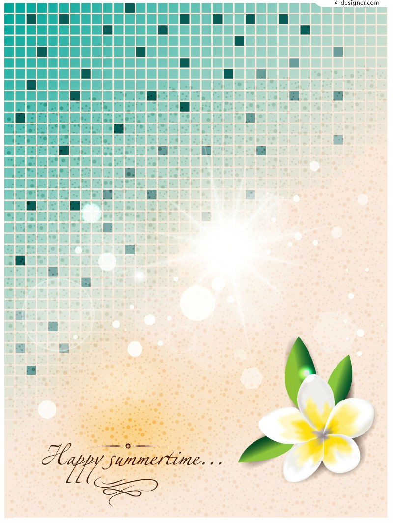 Happy Summertime background vector material