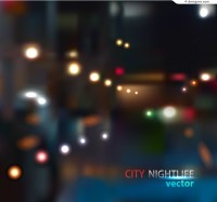 Hazy city street background vector material