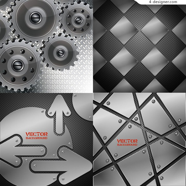 Metallic background vector material