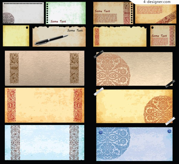 Paper texture effect background vector material