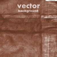 Realistic leather background vector material