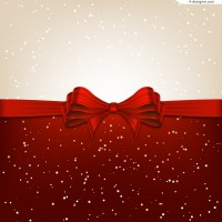 Red bow background vector material