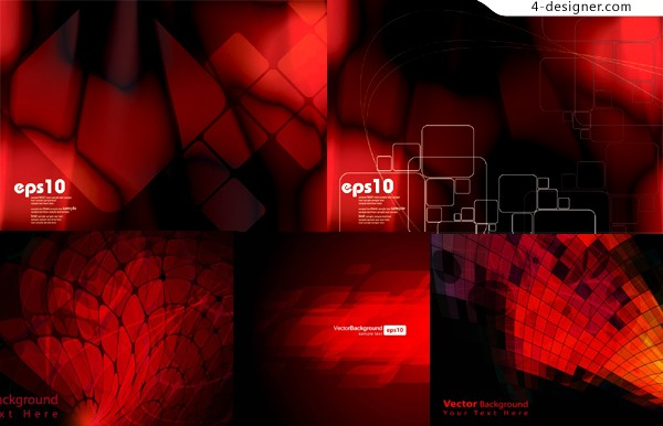 Red dynamic space background vector material