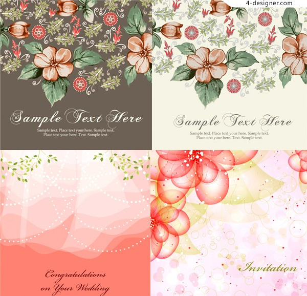Several beautiful and elegan pattern background vector materials