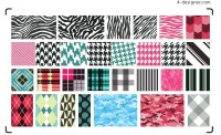Several fashion background pattern vector material