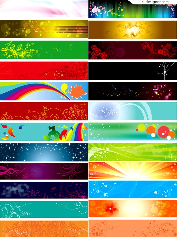 Several vector materials of beautiful and practical banner background
