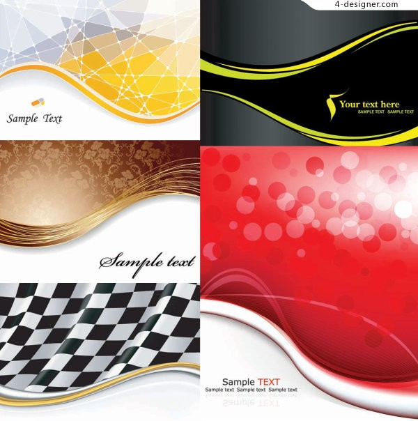 Several vector materials of dynamic wave lines background