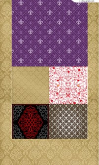 Several vector materials of personalized decorative pattern vector materials