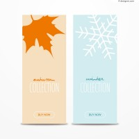 Simple Winter banner design vector material