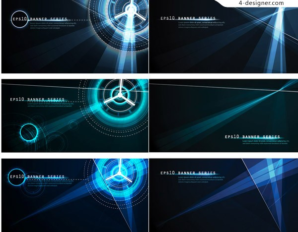 Simple and light effect technology background vector material