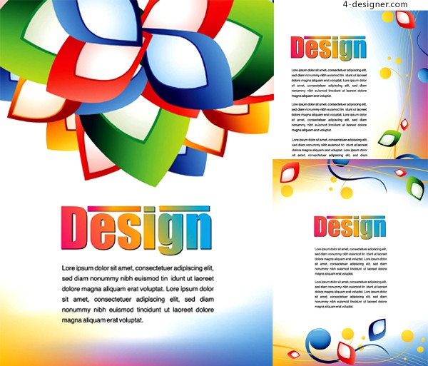 Simple and stylish poster background vector material