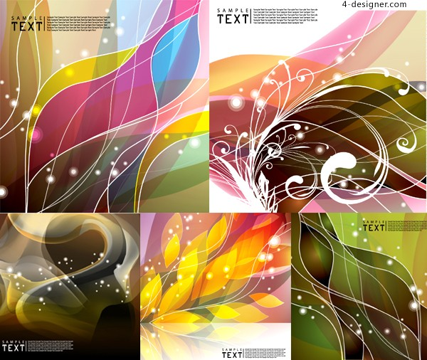 Special dynamic flow line background vector material
