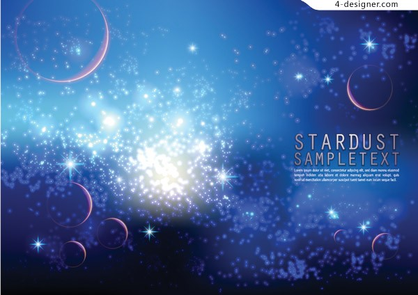 Starry space background vector material