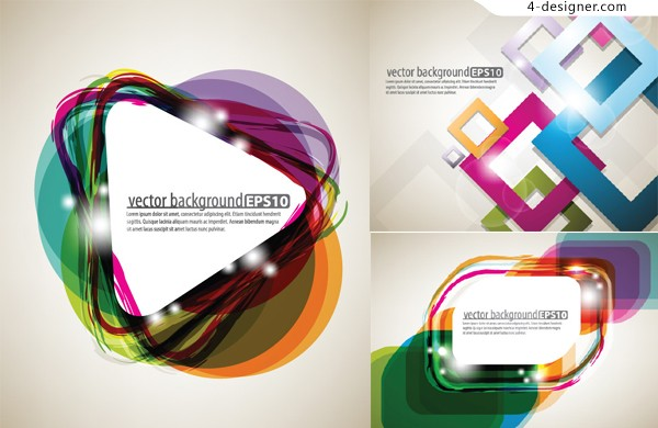 Stereo glare background vector material