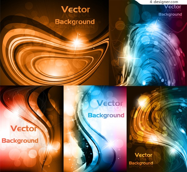 Stunning dynamic curve background vector material
