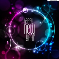 Symphony circle New Year background vector material